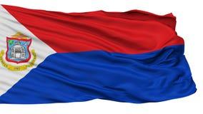 Sint Maarten Flag, lokalisiert auf Weiß vektor abbildung