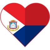 Sint Maarten heart  flag Stock Photos