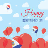 Sint Maarten Independence Day Flat Patriotic. Royalty Free Stock Image