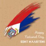 Sint Maarten Independence Day Patriotic Design Fotografia Stock