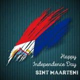 Sint Maarten Independence Day Patriotic Design Imagenes de archivo