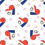 Sint Maarten Independence Day Seamless Pattern Immagini Stock Libere da Diritti