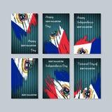 Sint Maarten Patriotic Cards für Nationaltag Stockfotos