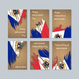 Sint Maarten Patriotic Cards para o dia nacional ilustração do vetor