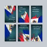 Sint Maarten Patriotic Cards para o dia nacional ilustração royalty free