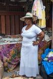 A Sint Maarten vendor displays her wares III. stock image