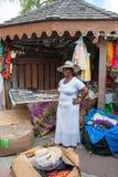 A Sint Maarten vendor displays her wares IV. royalty free stock photography