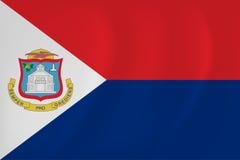 Sint Maarten waving flag Stock Image