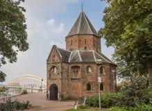 Sint Nicolaas church and waalbrug in Nijmegen Royalty Free Stock Photos