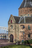 Sint Nicolaas church and waalbrug in Nijmegen Stock Photo