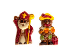 A sint and piet made of chocolate Stock Image
