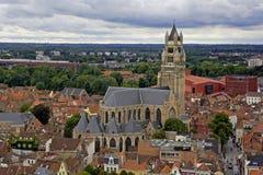 Sint-Salvatorskathedraal in Brugge Stock Photos