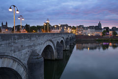 Sint-Servaasbrug i Maastricht, Nederländerna Royaltyfria Foton