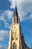 Sint - Truiden Church. The town hall in the historical centre of Sint-Truiden, Belgium, with a 17th-century tower classified by UNESCO as a World Heritage Site Stock Photography