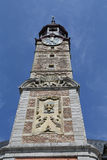 Sint Truiden Town hall - 04. The town hall in the historical centre of Sint-Truiden Belgium with a 17th-century tower classified by UNESCO as a World Heritage Royalty Free Stock Photos