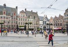 Sint Veerleplein, Gent Obraz Royalty Free