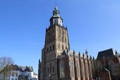 Sint Walburgiskerk dans Zutphen, Pays-Bas image stock