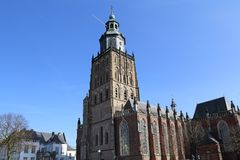 Sint Walburgiskerk in Zutphen, The Netherlands. The Saint Walburgiskerk church in Zutphen, The Netherlands stock image