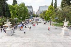 Sintagma-Quadrat, Athen, Griechenland stockfotografie