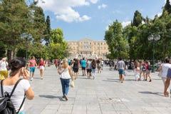 Sintagma-Quadrat, Athen, Griechenland lizenzfreie stockbilder