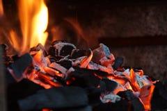 Sintels en brand - vooraanzicht stock afbeeldingen