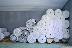 Sintepon. Insulation for clothing.  material. Royalty Free Stock Photography