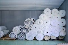 Sintepon Isolação para a roupa material Fotografia de Stock Royalty Free