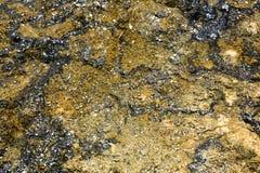 Sinter deposits colored by hot-water algae, Orakei Korako Cave Stock Photography