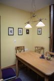 SInterior design of dining room in a new house Royalty Free Stock Image
