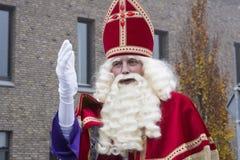 Sinterklaas和Zwarte Piet到达 库存照片
