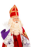 Sinterklaas在白色背景的okay标志 库存照片