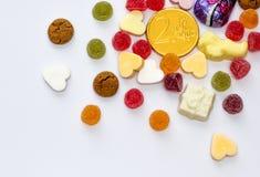 Sinterklaas的被分类的假日糖果 库存照片