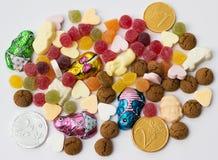 Sinterklaas的被分类的假日糖果 免版税库存图片