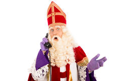 Sinterklaas με το τηλέφωνο Στοκ φωτογραφίες με δικαίωμα ελεύθερης χρήσης