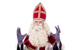 Sinterklaas на белой предпосылке Стоковые Изображения