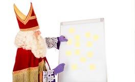 Sinterklaas с пустым whiteboard Стоковое Изображение RF