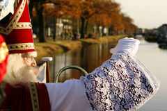 Sinterklaas. Looking out over the water Stock Image
