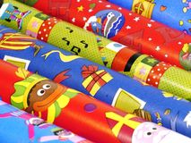 Упаковочная бумага Sinterklaas Стоковое Изображение RF