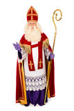 Sinterklaas auf weißem Hintergrund In voller Länge Stockfotos