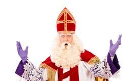 Sinterklaas avec l'expression Image stock