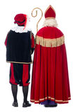 Sinterklaas and Black Pete from the back Stock Photos