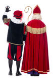 Sinterklaas and Black Pete from the back Stock Image