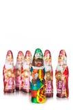 Sinterklaas and black pete . Dutch chocolate figures Royalty Free Stock Image