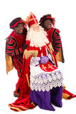 Sinterklaas and black pete on white background Stock Photography