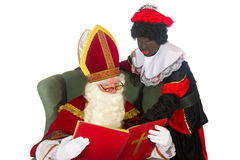 Sinterklaas and black Piet Royalty Free Stock Image