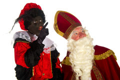 Sinterklaas and Black Piet Royalty Free Stock Photography