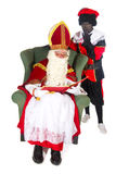 Sinterklaas and Black Piet Royalty Free Stock Images