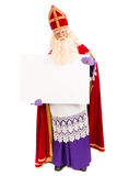 Sinterklaas with blank paper Royalty Free Stock Images