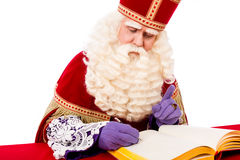 Sinterklaas with book Royalty Free Stock Photo