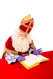 Sinterklaas with book Stock Images